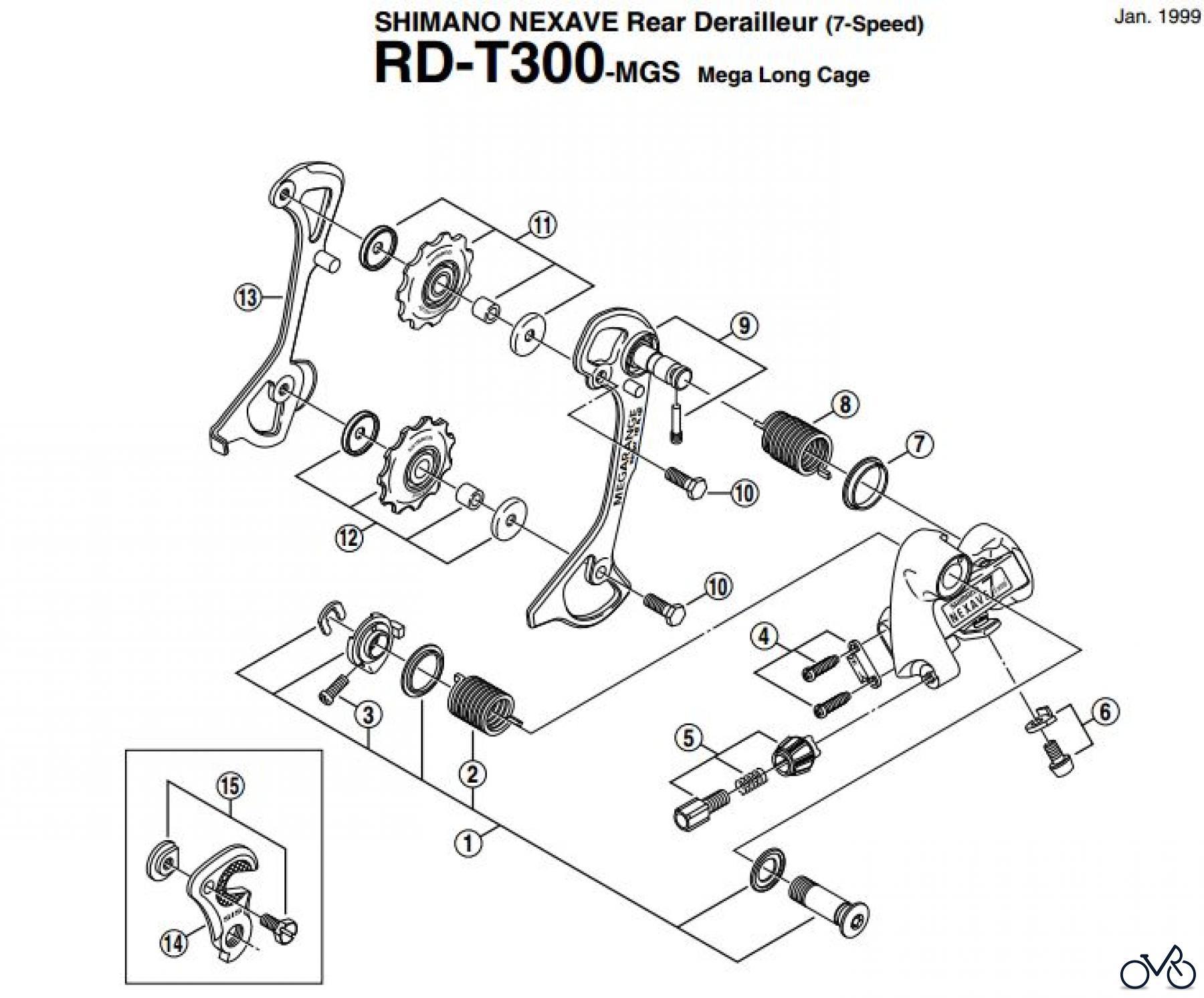 Shimano Ersatzteile Rear Derailleur Diagram Rd Schaltwerk T300